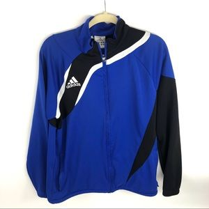Adidas Soccer Track Jacket Mens Medium Blue Black